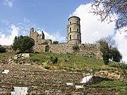 The ruins of the Grimaldi castle at Grimaud, near Saint-Tropez.
