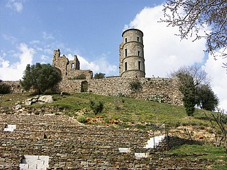 French Riviera - The ruins of the Grimaldi castle at Grimaud, near Saint-Tropez