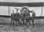 Group portrait of five decorated Australian Flying Corps officers (3288871610).jpg