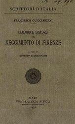 Francesco Guicciardini: Dialogo e discorsi del reggimento di Firenze