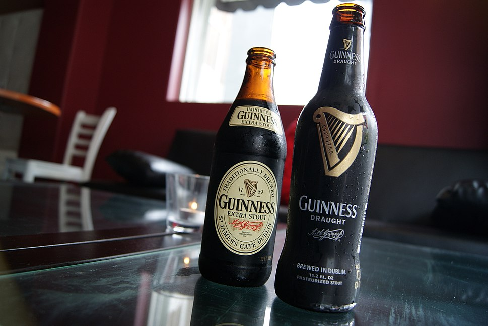 Guinness Extra Stout and Guinness Draught