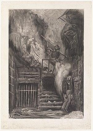 Gérard de Nerval - La rue de la vieille lanterne: The Suicide of Gérard de Nerval, by Gustave Doré, 1855