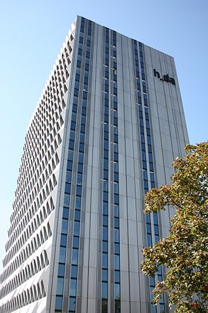 Darmstadt University of Applied Sciences - View of the 'Hochhaus' (high-rise), Administrative Building