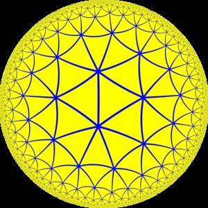 Order-7 tetrahedral honeycomb - Image: H2 tiling 237 4
