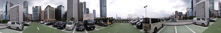 HK 中環 Central 天星碼頭多層停車場 Star Ferry Piers Carpark building roof view October 2018 SSG 28.jpg