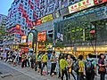 HK Causeway Bay 百德新街 Paterson Street Taxi Stop Mar-2013 view Kingston Building n Pearl City Fung Shing Restaurant.JPG