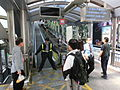 HK Central Escalators interior visitors n Security staff at 10am changing everyday Oct-013 (3).JPG