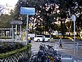 HK Sheung Shui Chi Cheong Road name sign n crossway n visitors Jan 2017 Lnv2.jpg