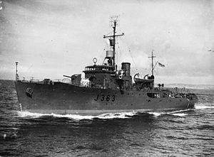 State Dockyard - Image: HMAS Strahan IWM FL 19390