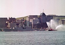 210692bb HMCS Athabaskan departs Halifax for the Persian Gulf as a part of Coalition  forces. Canada deployed three ships in support of Operation Desert Shield,  ...