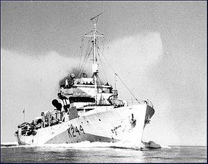 HMCS Charlottetown (1941) - Image: HMCS Charlottetown (Flower class) MC 2183