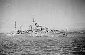 HMS Aurora (12) - Image: HMS Aurora 1942 IWM A 8158