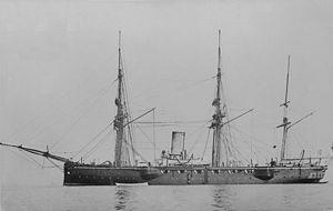 HMS Calypso (1883) - Image: HMS Calypso a 2