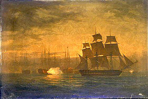 HMS Clyde (1796) - Image: HMS Clyde escapes