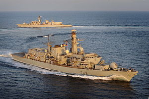 HMS St Albans (F83) - Image: HMS St Albans Hands Over to HMS Argyle in the Middle East MOD 45153373