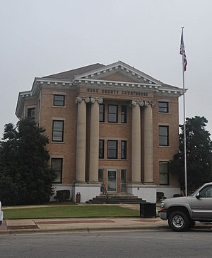 National Register of Historic Places listings in Hoke County, North Carolina - Image: HOKE COUNTY COURTHOUSE, RAEFORD, NC