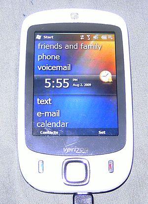 HTC Touch - A Verizon Vogue running WM 6.5
