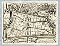 HUA-212030-Plattegrond van de stad Utrecht met directe omgeving met weergave van het stratenplan wegen en watergangen en van enkele kerken in opstand met gestile.jpg