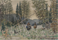 HUNTERS ON HORSEBACK IN A PINE FOREST.PNG