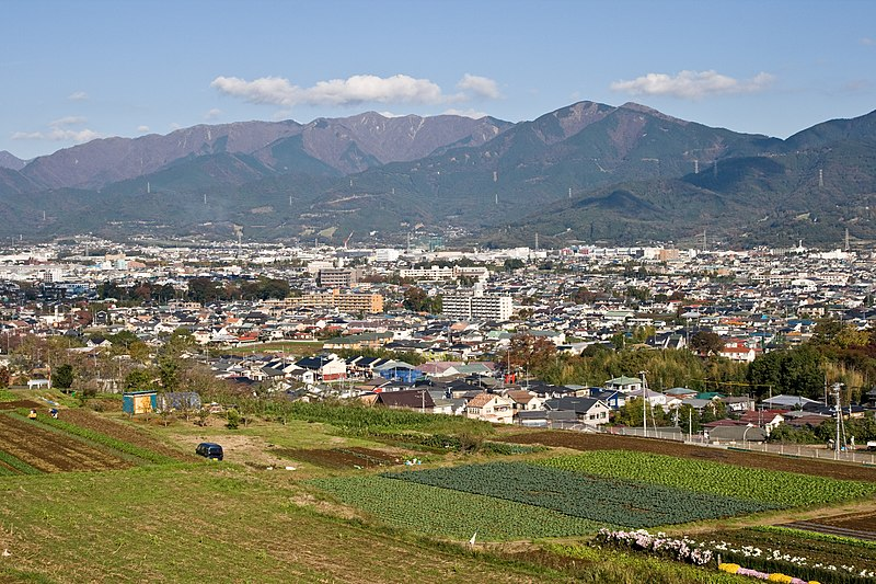 Hadano Basin from Shibusawa Hill Range 08.jpg