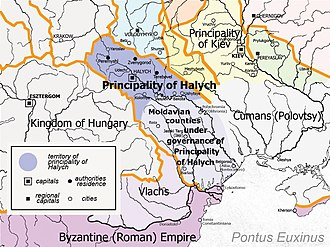 Principality of Halych - Halych Principality in the 12th century