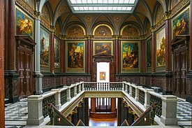 The Kunsthalle's old and new grand staircase