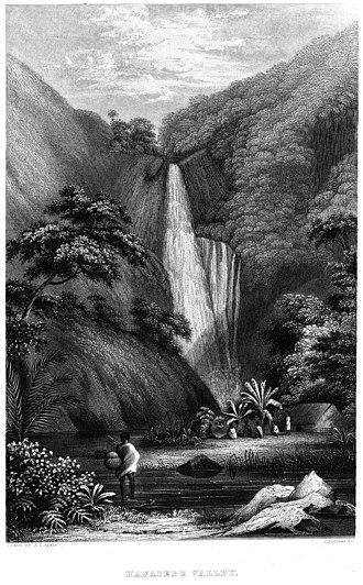 Hanapepe, Hawaii - The Hanapepe Valley as drawn by Alfred Thomas Agate