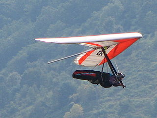 Hang gliding An unpowered glider air sport