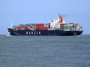 Hanjin Kaohsiung p6, leaving Port of Rotterdam, Holland 08-Jul-2007.jpg