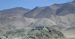 Buddhist monastery in Ladakh, India