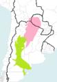 Haplogroups in Chelonoidis chilensis.png