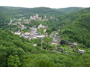 City of Hardegg with Hardegg Castle, seen from the Hardegger Warte