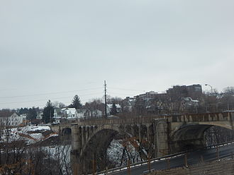 U.S. Route 11 in Pennsylvania - The Harrison Avenue Bridge, part of old US 11