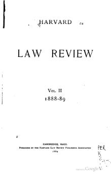 Harvard Law Review Volume 2.djvu
