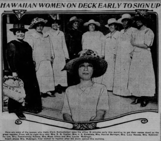 Timeline of womens suffrage in Hawaii