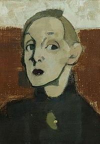 Helene Schjerfbeck - Self-Portrait in Black Dress.jpg