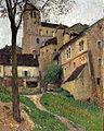 Henri Martin - Paisagem com Castelo - Vista de Saint-Cirq Lapopie.jpg