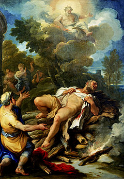 Hercules on the pyre by Luca Giordano