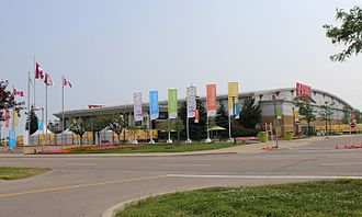 Paramount Fine Foods Centre - Entrance to the Hershey Centre during the 2015 Pan American Games