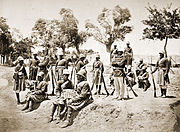 Highlanders of Amir Yaqub at Gandamak