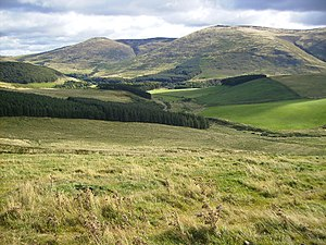 Cheviot Hills - College Valley in the northern Cheviots, near Hethpool