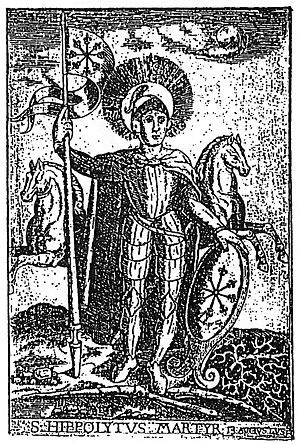Buddhist influences on Christianity - 17th century engraving of Hippolytus