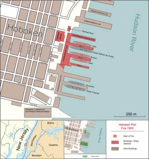 1900 Hoboken Docks fire - Hoboken Pier Fire