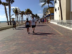 Broward County, Florida - Hollywood Beach Boardwalk