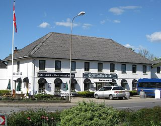 Holsted Town in Region of Southern Denmark, Denmark