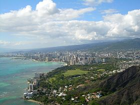 View of Honolulu from the air