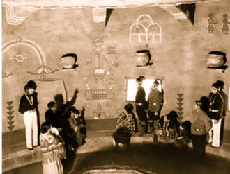 Fred Kabotie - Fred Kabotie murals, Hopi Room, Watchtower, c. 1932