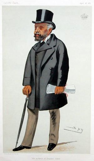 """Horatio Nelson, 3rd Earl Nelson - """"the noblest of English names"""" Nelson as caricatured by Spy (Leslie Ward) in Vanity Fair, April 1881"""
