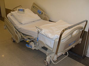 English: electrically moved hospital bed 2011 ...