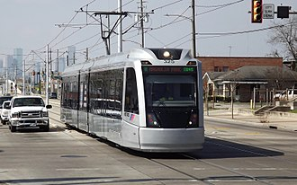 METRORail - Image: Houston CAF LRV on Harrisburg Blvd at Wayside Drive, Feb 2017